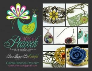 Gleefull Peacock Postcard