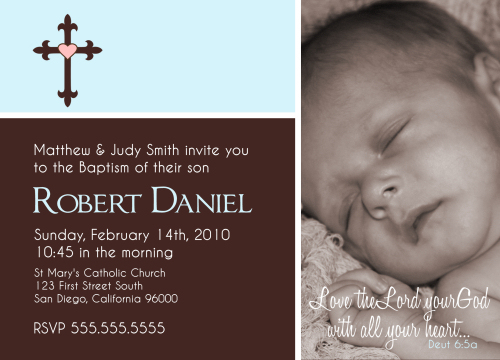 Baby Baptism Invitation