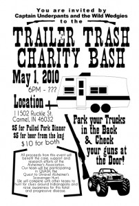 Trailer Trash Charity Bash Flyer